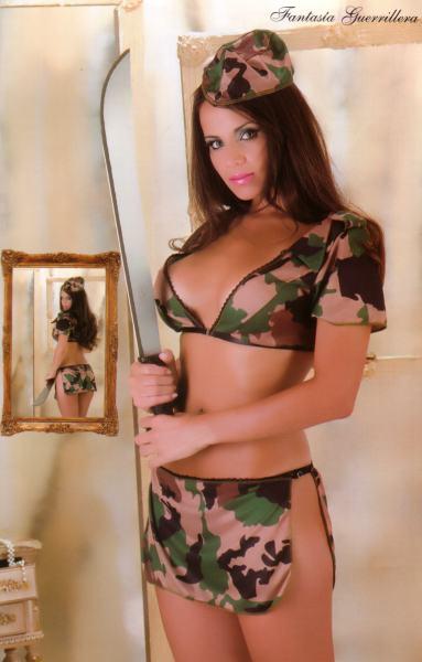 vestida para la guerra