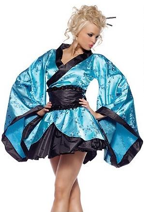 Kimono azul de LenceriaLolita.com